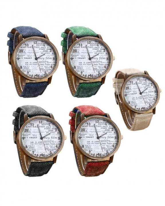 Pack of 5 - Multicolor Leather Watch for Men