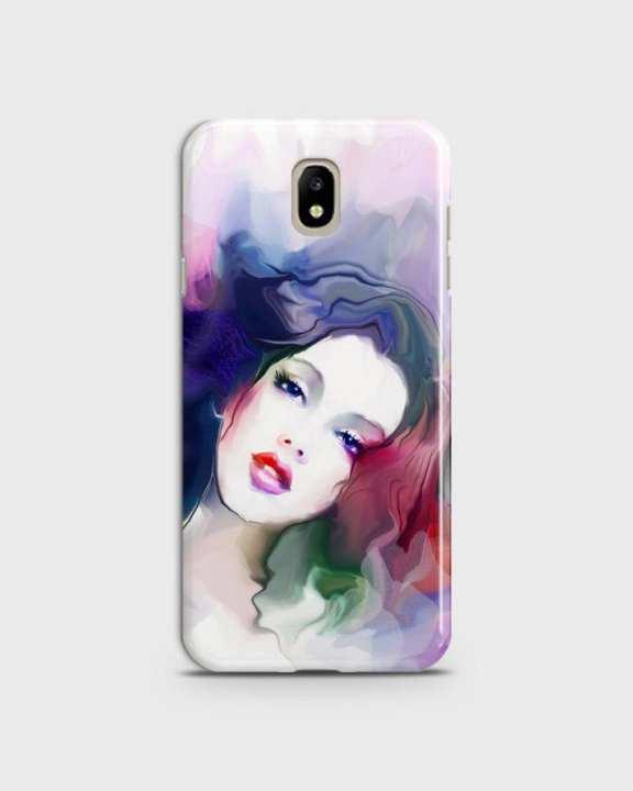 Cover For Samsung J5 2017 Hard Girl Face Print -1cover2817