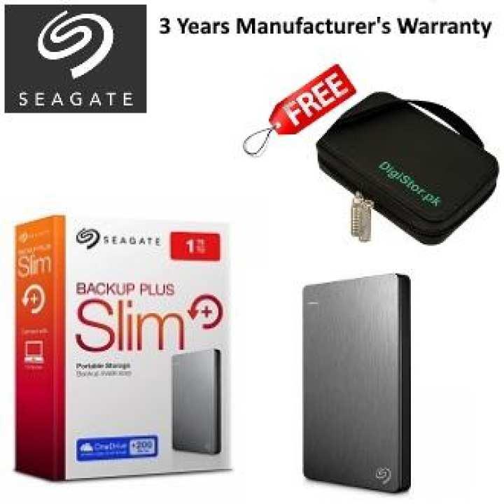 Seagate STDR1000301 - 1TB Backup Plus Slim Portable External Hard Drive - Silver