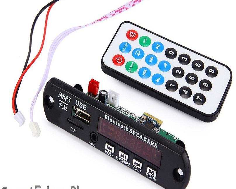 MP3 Player Amplifier Panel LED 5V Audio Module FM Radio USB AUX Remote