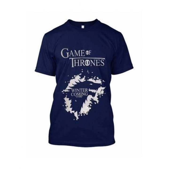 Game Of Thrones Blue Printed T-shirt For Men HT-284