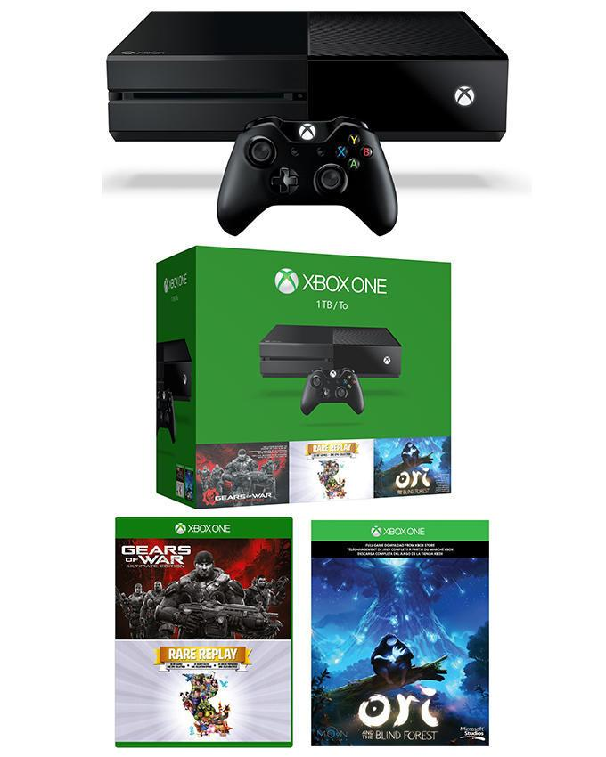 Xbox One 1TB Console With 2 Games Holiday Bundle - Black