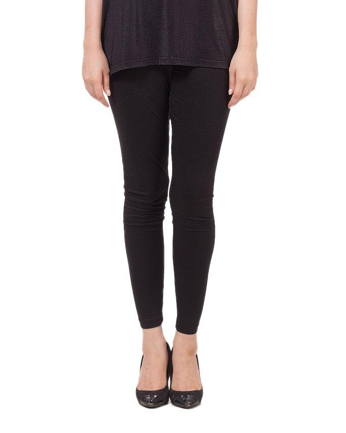 Black Cotton Tights For Women