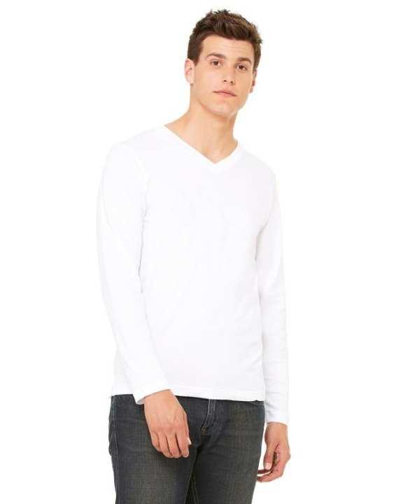 Cotton Long Sleeve V-Neck Tee