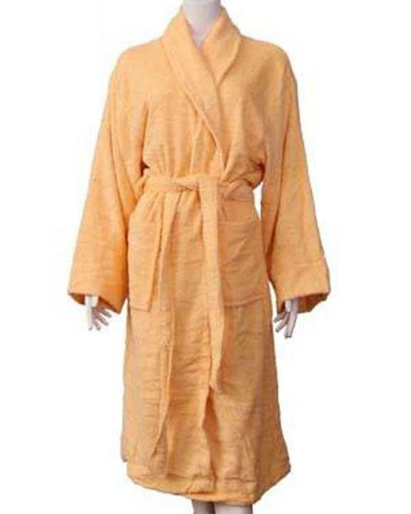00R2 - Peach Cotton Shawl Collar Bathrobe
