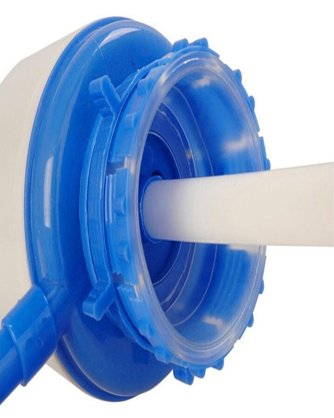 Hand Press Pump For Bottled Water - Large - White & Blue