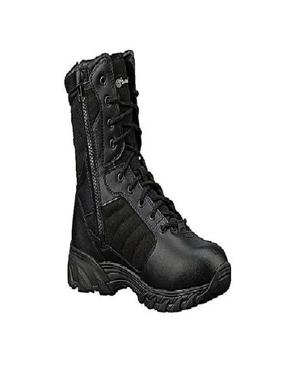 Black Leather Top Delta Army Boots For Men