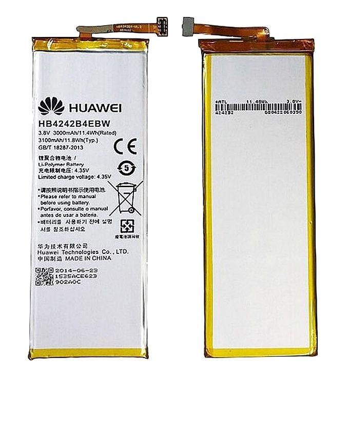 HB4242B4EBW - Battery For Honor 6 H60-L01 - 3000mAh - Silver