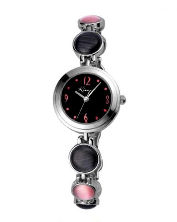 Black & Pink Beads Watch for Women - Metal
