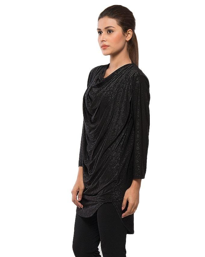 Black Jersey Top For Women