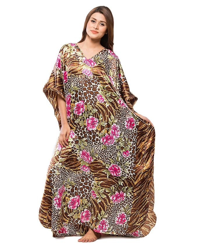 Multicolour Night Dress For Women