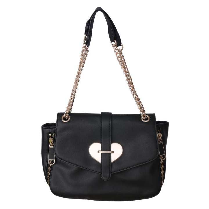 Black Leather Ladies Fashion Bags