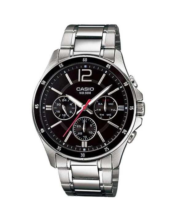Black & Grey Watch for Men - Mtp-1374D-1Avdf
