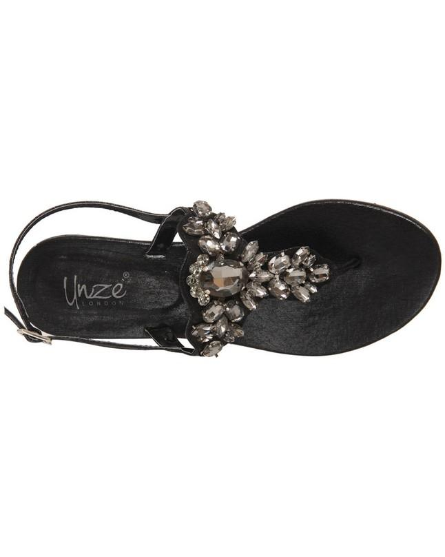 """5fb0cec02 Gold Women """"ORLA"""" Sling back T-Strap Buckle Strap Thong Sandals L29750  Buy  Online at Best Prices in Pakistan"""
