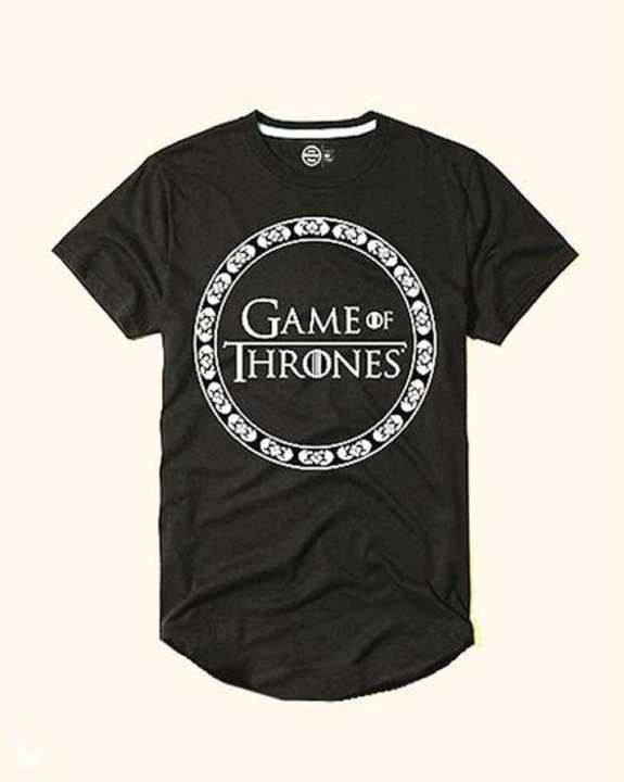 "Black ""Game of Thrones"" Print T-Shirt for Men"