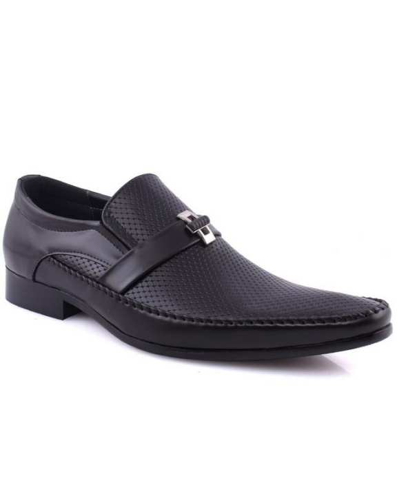 """Black Men's """"MILES"""" Perforated Oxford Dress Shoes"""