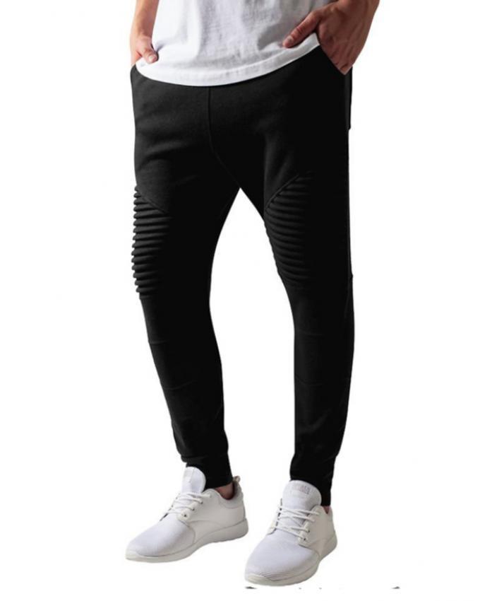 Black Fleece Sweat Pants for Men - TUH-02