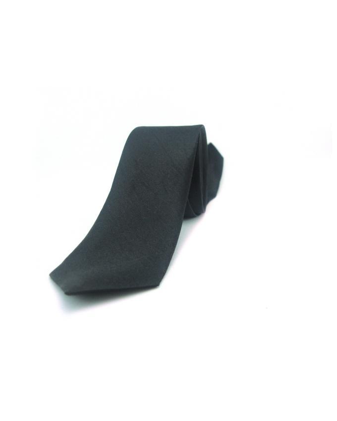 Black Silk Skinny Tie