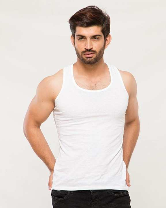White Cotton Vests For Men