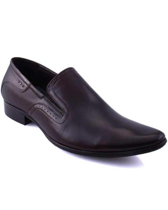 "Men ""JAYDEN""  Brogue Style Cap Toe Leather Shoes Brown GS5932"
