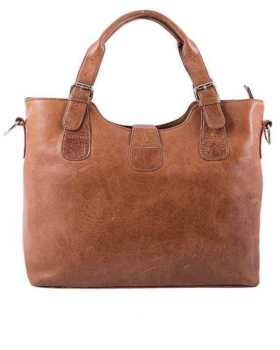 Tan Leather Handbag For Women