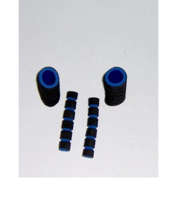 Foam Cover For Handle Grips - Black & Blue