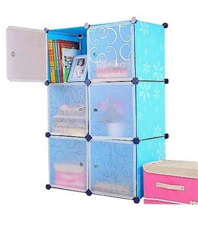 DIY Storage Cabinet - Blue