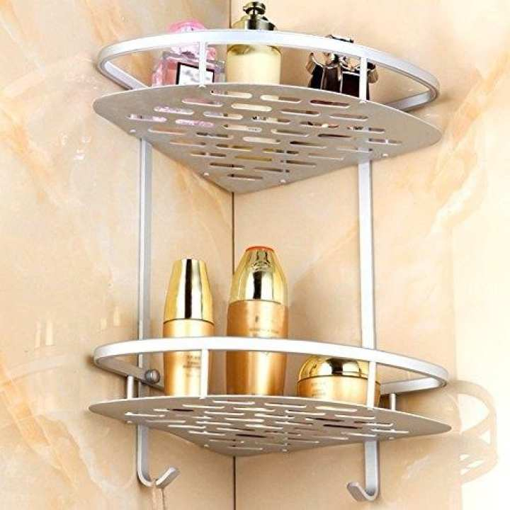 2 Layer Aluminium Bathroom Corner Rack