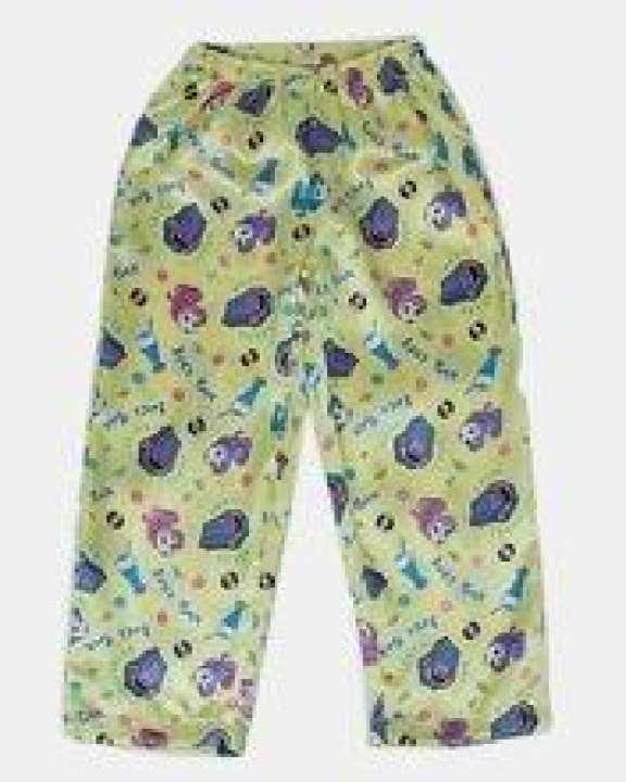 Yellow Juke Box Printed Polyester Satin Pajama - Gp 08