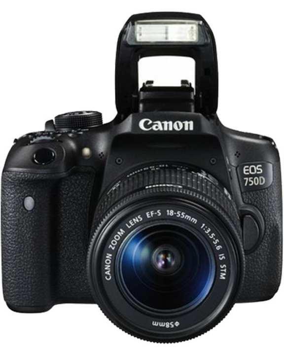 EOS 750D - 24.2 MP - 55 mm Lens - CMOS Sensor - 3-Inch LCD -Hybrid Camera - Black
