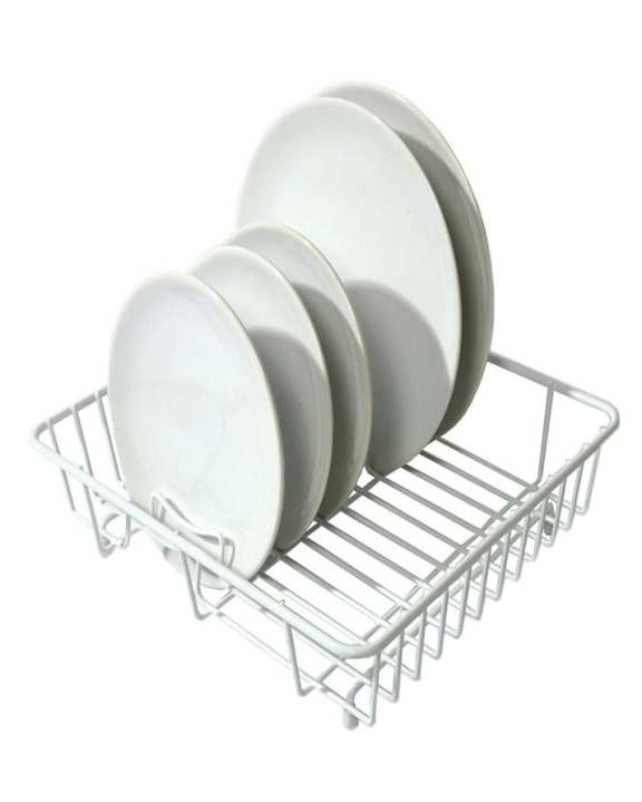 Luxury Heavy Duty Popular Dishes/ Plates/ Mugs/ Glasses Drainer (White)