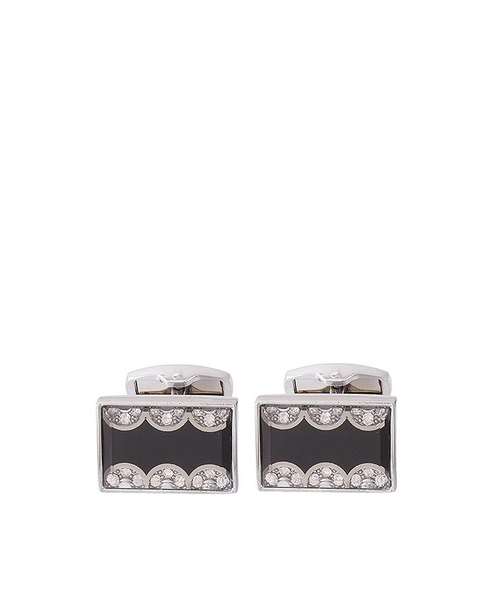 Silver Rhodium Cufflinks for Men - C-078