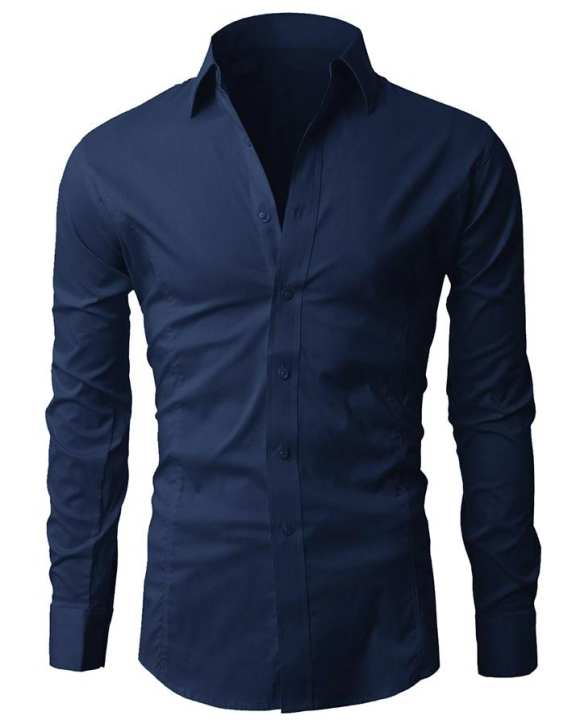 100% Cotton Formal Shirts for Men - Navy