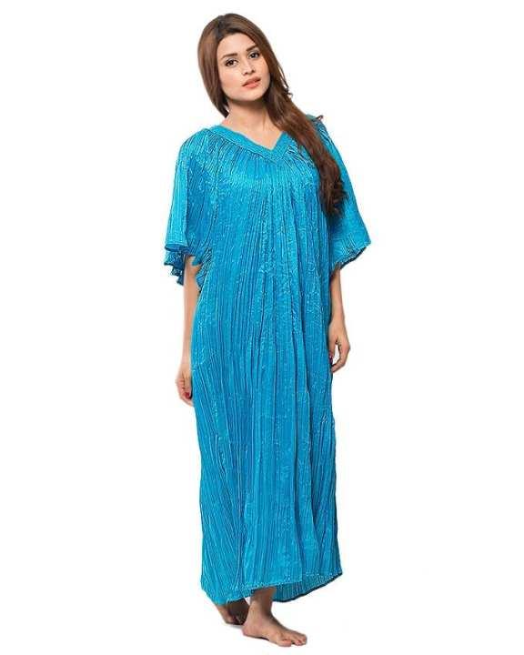 Light blue  Night Dress For Women
