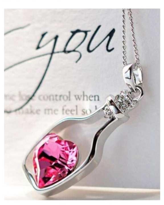 Pink Exclusive Pendant Necklace for Women - TM-PN-10-Pk -pr - Jewellery