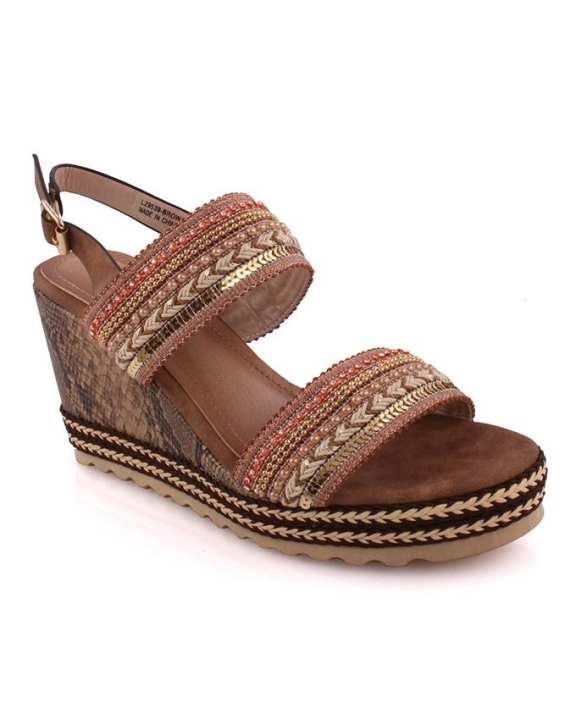 Belinda Low Heel Wedge Sandals for Women L29539