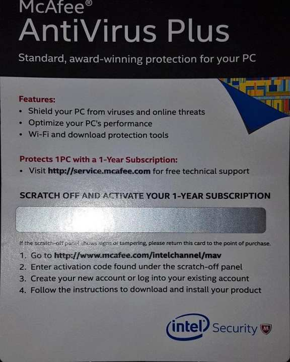 McAfee AntiVirus Plus - One Year Subscription Offer by VIPER
