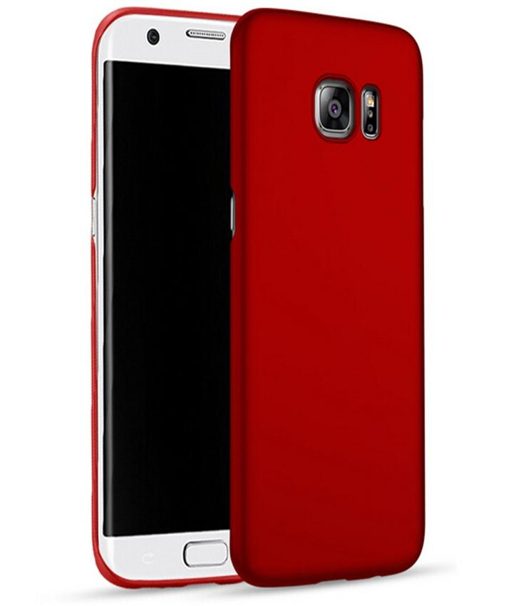 Ultra thin Back Cover Red Hard Phone Case for Samsung Galaxy S6 edge