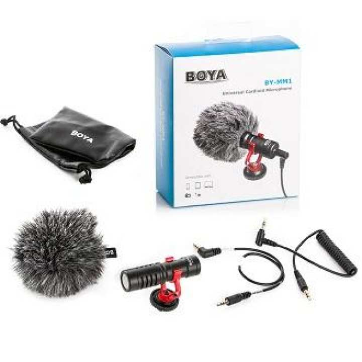 BOYA BY-MM1 Compact On-Camera Video Microphone Youtube Vlogging Recording Mic for Mobiles & DSLR