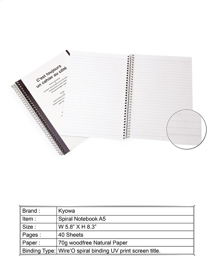Kyowa Seasons A5 Size Spiral Notebooks, Bundle Of 10 Pcs, 40 Sheets, Affordable Price, Hard Vintage Style Cover With Elastic Closure.