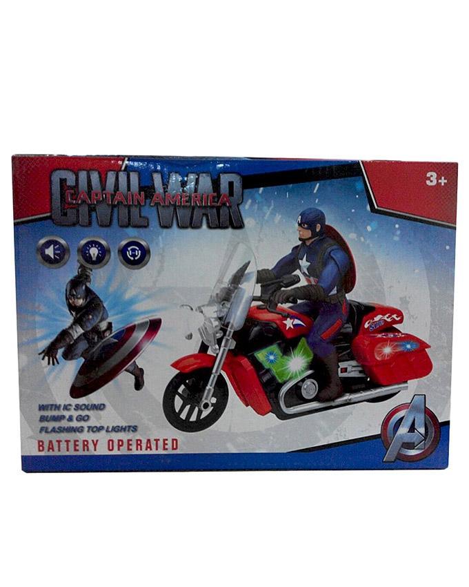 Captain America Flashy Bike