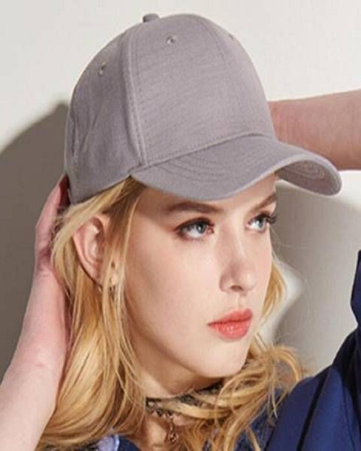 Plain Sun Block   Baseball Cap For Girls Grey  Buy Online at Best ... 1fea1514bbb9