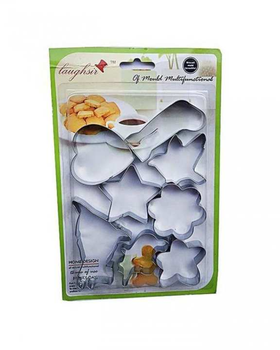 Pack Of 8 - Cookies Cutter - Silver