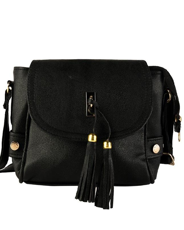 5960a8cc52a2 Black Leather Cross Body Bag For Women
