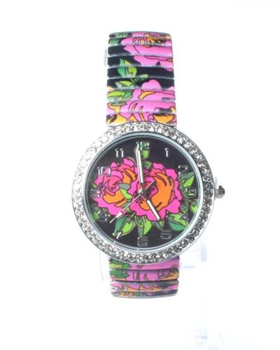 Black Alloy Wrist Watch for Women - WA-0045