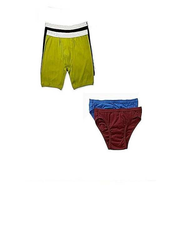 Pack of 4 - Multicolor Cotton Boxer & Brief Innerwear for Men