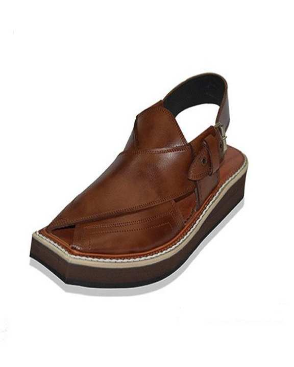 Kaptan Leather Chappal - Brown And Light Brown All sizes will be availabe