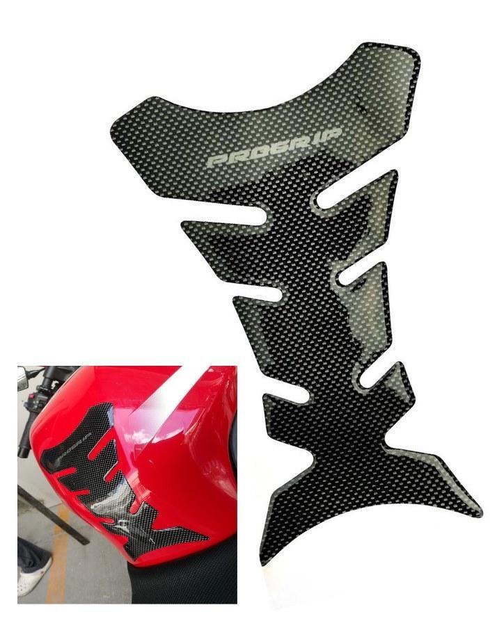 Motorcycle Tank Pad Carbon Fiber Pro Gripper - Black