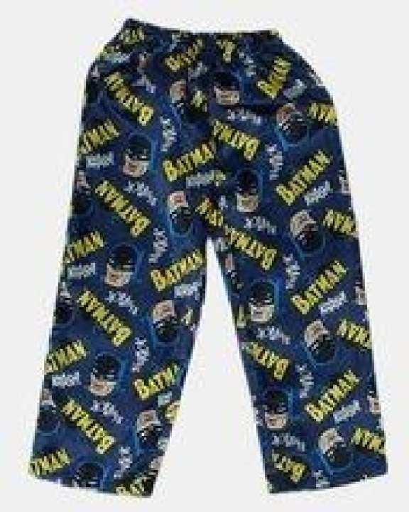 Blue Batman Printed Polyester Satin Pajama - Gp 011