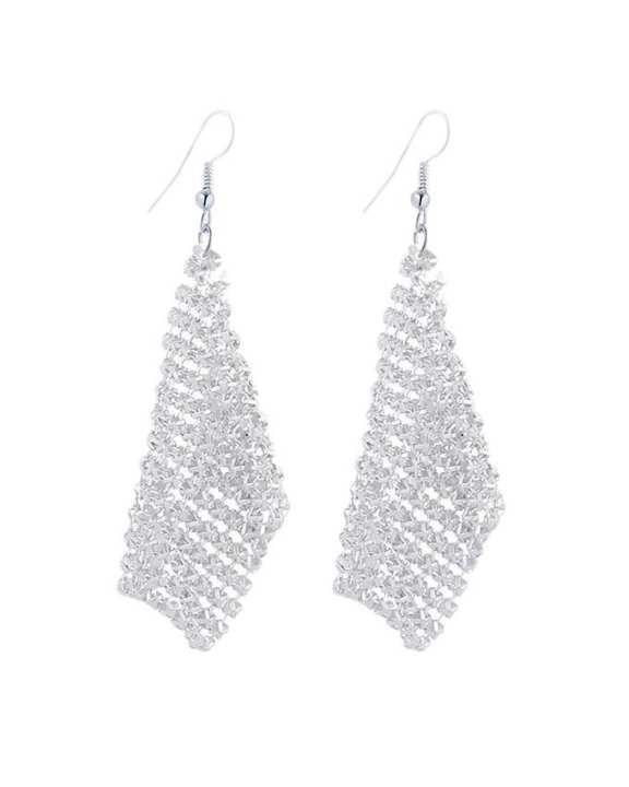 Silver Stylish Long Earrings For Women